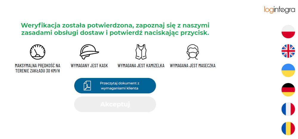 Ekran aplikacji infokiosku.